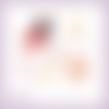 Découpes scrapbooking friandises noël hiver fête chocolat pain d'épices en couleurs - ref.2959