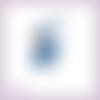 Découpe scrapbooking fée bleue magie elfe conte féerie étoile princesse en couleurs - ref.3199