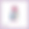 Découpe scrapbooking nounours rose fleur naissance amour bébé anniversaire en couleurs embellissement die cut découpe papier (ref.3206)