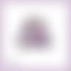 Découpe scrapbooking pingouins coeur violet amour naissance bébé anniversaire mariage en couleurs embellissement die papier (ref.3216)