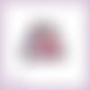 Découpe scrapbooking pingouins coeur rouge amour naissance bébé anniversaire mariage en couleurs embellissement die papier (ref.3214)