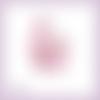 Découpe scrapbooking sac à main femme rose fleur accessoire mode mariage en couleurs embellissement die cut carte papier scrap (ref.3221)