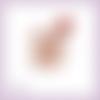 Découpe scrapbooking souris bébé rose rouge fleurs enfant maman naissance animal en couleur embellissement die papier scrap (ref.3269)