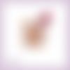 Découpe scrapbooking souris bébé rose rose fleurs enfant maman naissance animal en couleur embellissement die papier scrap (ref.3270)