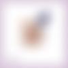 Découpe scrapbooking souris bébé rose violette fleurs enfant maman naissance animal couleur embellissement die papier scrap (ref.3272)