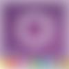Découpe scrapbooking cadre rond houx pommes de pin noël hiver - ref.3398