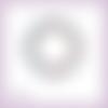 Découpe scrapbooking cadre rond houx pommes de pin noël hiver en couleurs - ref.3399