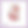 Découpe scrapbooking etiquette fleurs clématites en couleurs (ref.3340)