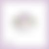 Découpe scrapbooking etiquette fleurs clématites en couleurs (ref.3342)