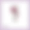 Découpe scrapbooking clé rose fleurs jardin porte en couleurs (ref.3318)