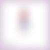 Découpe scrapbooking femme robe vintage sac en couleurs - ref.4466