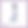 Découpe scrapbooking femme robe bleue vintage belle époque - ref.4490