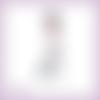 Découpe scrapbooking femme robe grise vintage belle époque - ref.4491