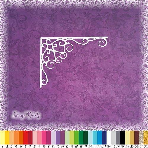 Découpe scrapbooking coin de page arabesques bordure noël fête album carte - ref.4791