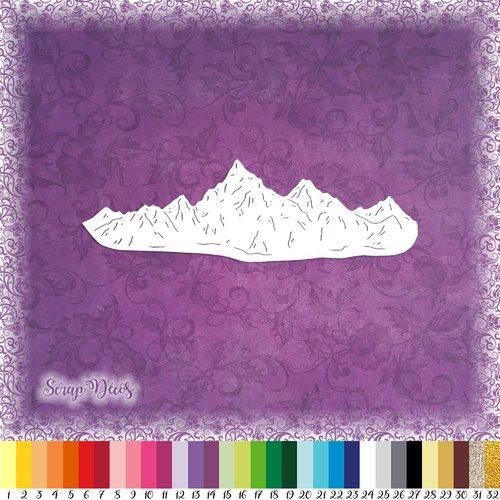 Découpe scrapbooking montagne nature paysage voyage forêt ski - ref.4738