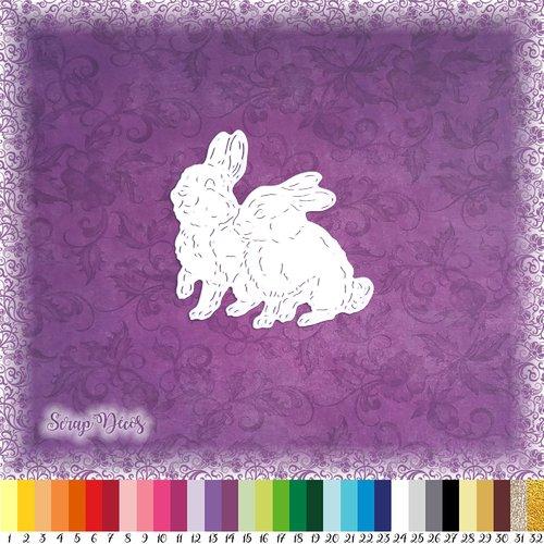 Découpe scrapbooking lapins neige arbre animal forêt noël hiver - ref.4748