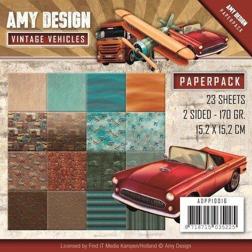 Paperpack 170gr 50 feuilles 15,2 x 15,2 cm-Designer Sheets – carreau