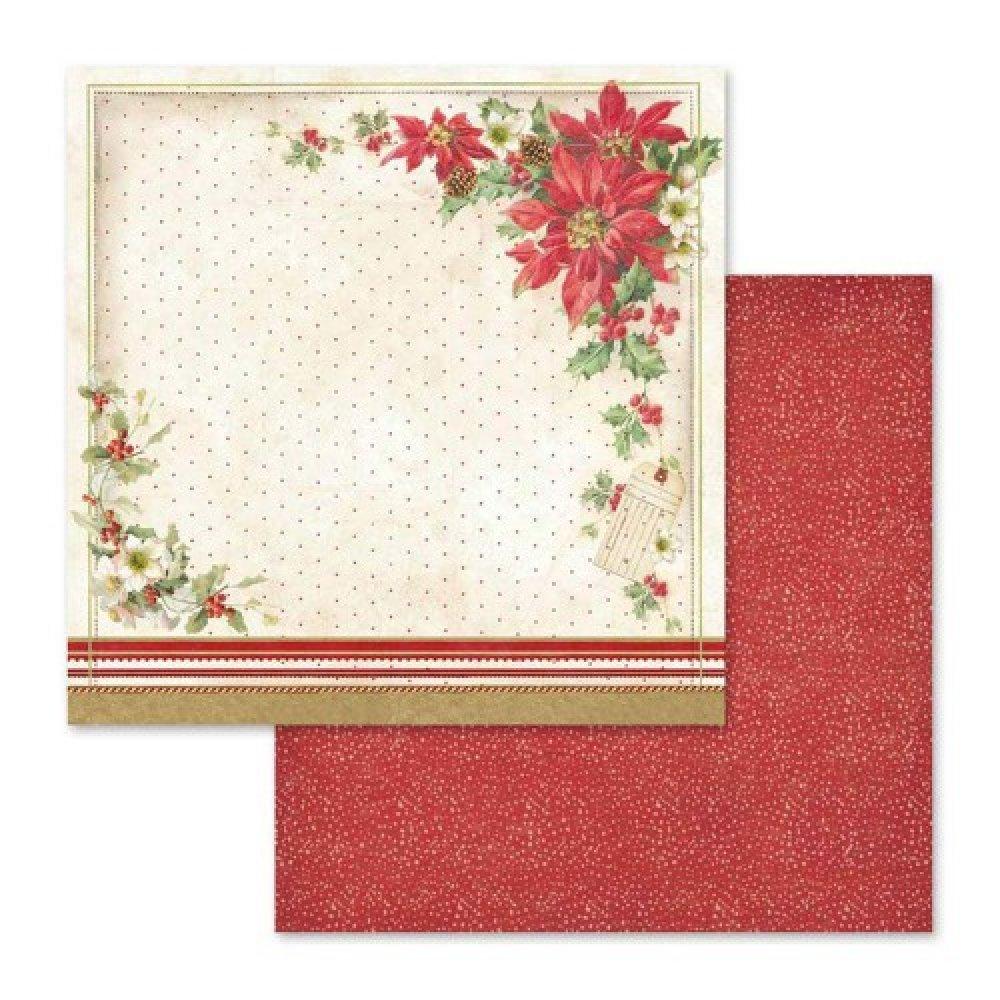 Papier scrapbooking Stamperia - Christmas Vintage - 10 feuilles - 30x30