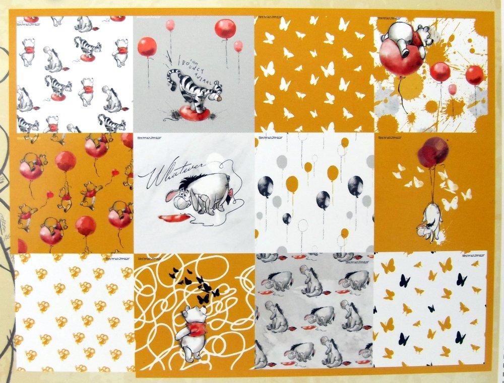 Bloc papier imprimé Disney Winnie l'Ourson - 24 feuilles - 15x15