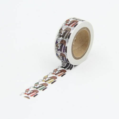 10m de masking tape papa noël - washi tape