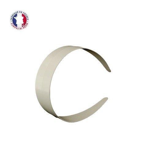 Serre tête large plastique blanc 3,9 cm de large à recouvrir– vendu x 24 pièces