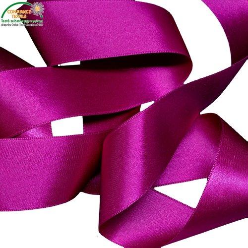 ruban satin violet  66 mm  double face vendu au mètre