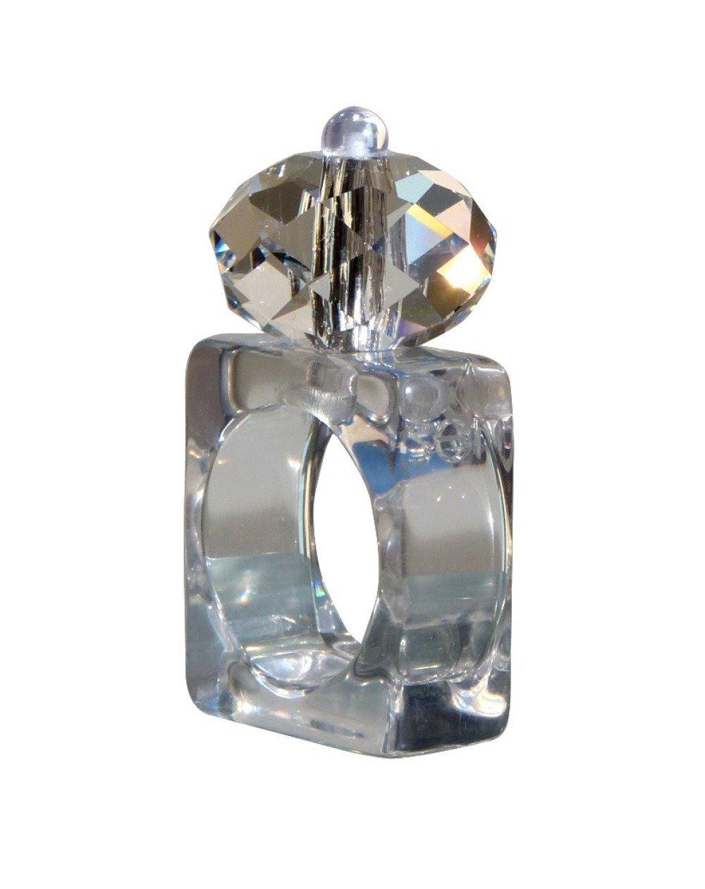 Bague cristal swarovski transparent