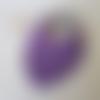 Bavoir bavouilles violet