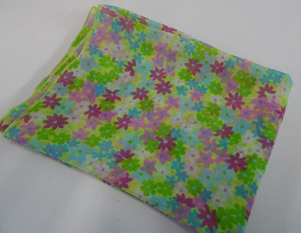 Echarpe mousseline imprimé floral