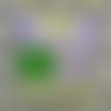 Sac en tissu/tote bag/tissu imprimé motifs éventails/jaune rouge vert
