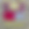 Sac en tissu/tote bag/tissu imprimé motifs éventails/jaune gris fuchsia