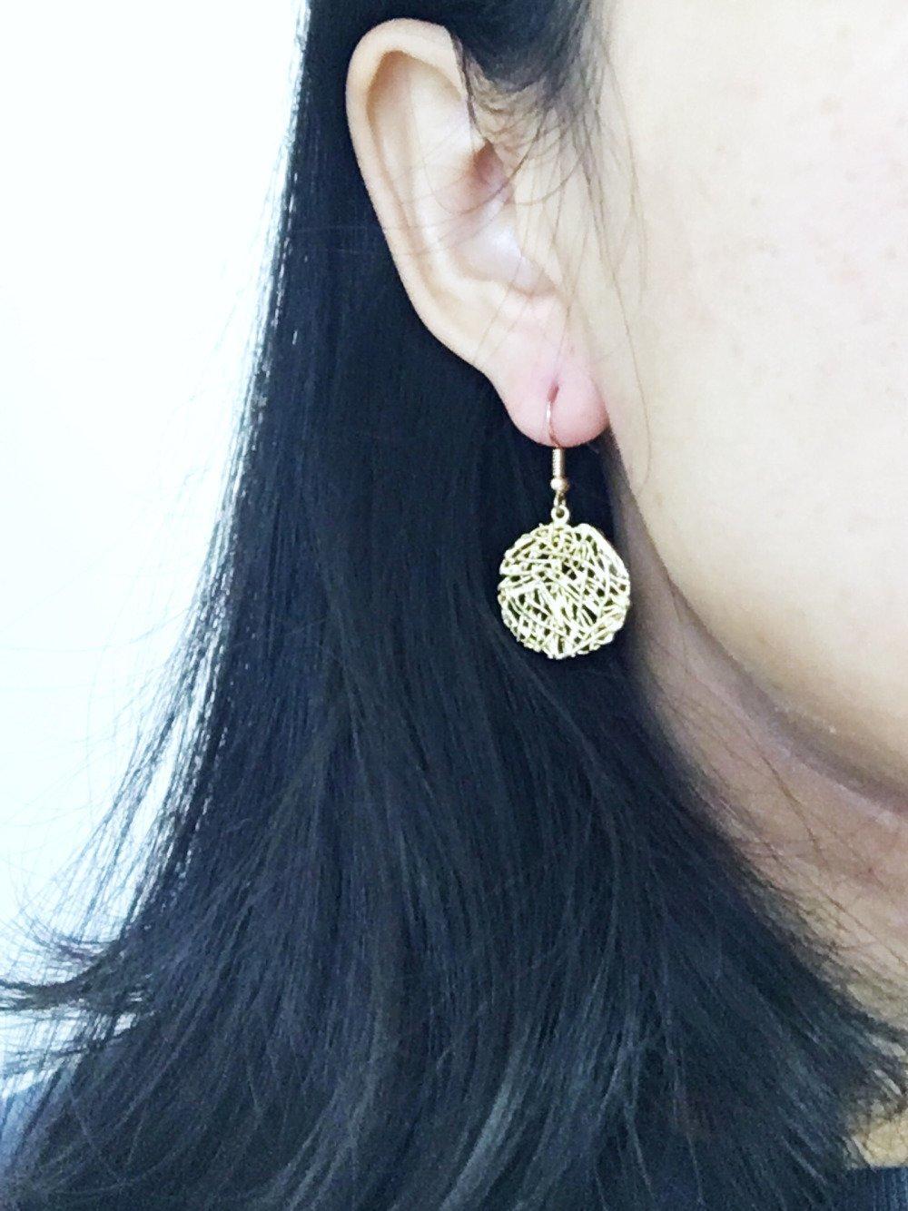 Collection GoldDrop / Boucles d'oreilles Rose Dorée Cercle / Bohème Chic Boucles d oreilles / Bijoux Art Nouveau / Cadeau / Pour Elle