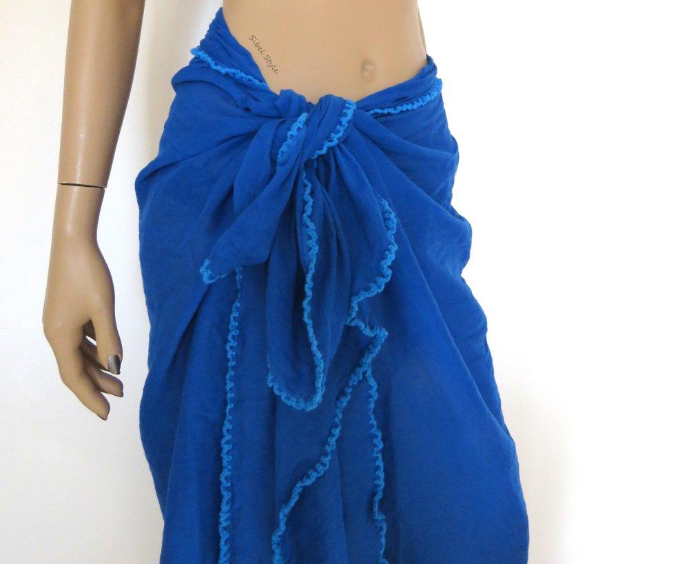 Stretch Coton Tie Dye Plage Wrap//Sarong//écharpe 1 mètre carré