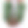 Mitaines femme tricot fait-main laine poilue imitation fausse fourrure, gants sans doigts vert amande, idée cadeau fête des mères