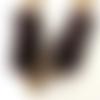 Mitaines femmes au tricot fait-main en laine poilue imitation fourrure coloris marron, gants sans doigts, cadeau fête des mères