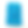Étui téléphone portable au crochet fait-main coloris bleu turquoise