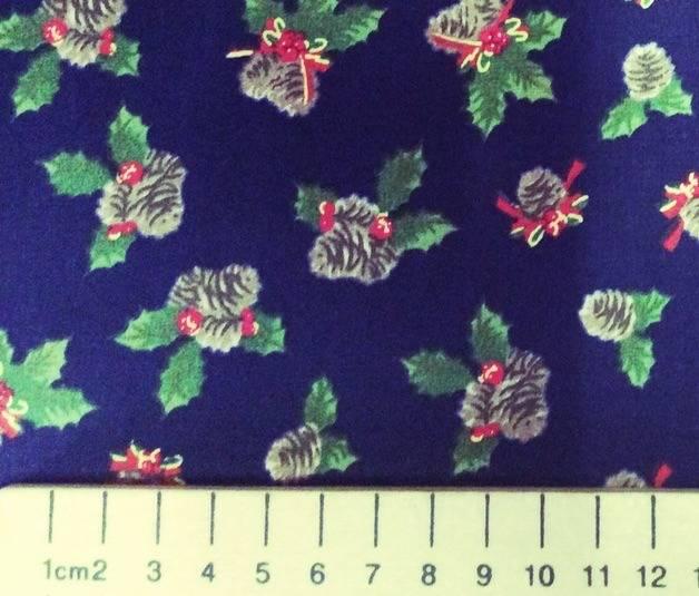 Popeline de coton de qualite japonaise, motif Noel
