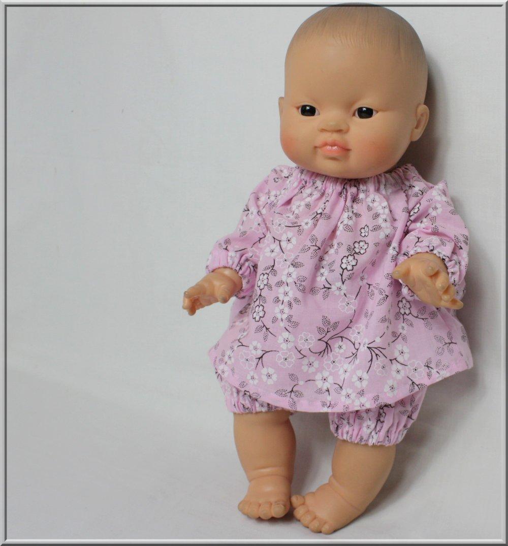 Tunique et bloomer pour poupée 28/30/34 cm