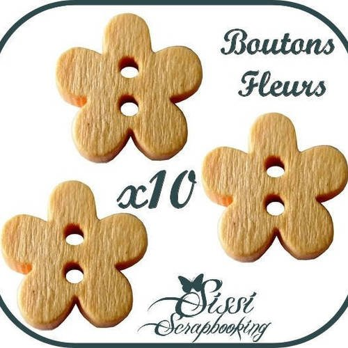 LOT 10 BOUTON EN BOIS CHIEN ANIMAL SCRAPBOOKING LAYETTE