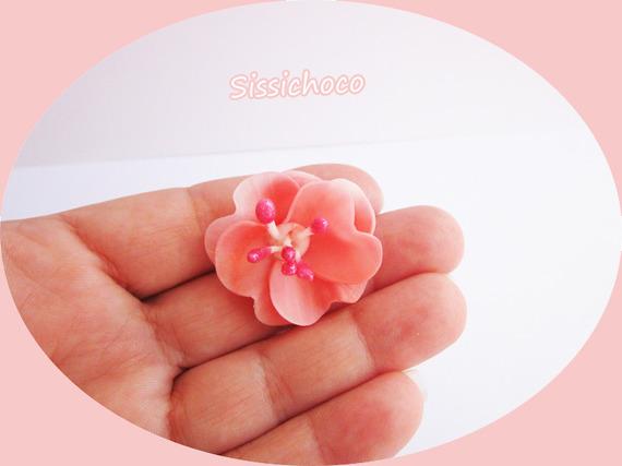 perles fleur porcelaine froide (CRÉATEUR) lot de 3