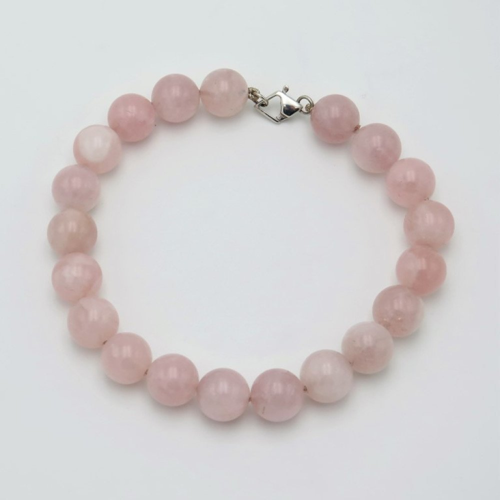 collier ras de cou quartz rose