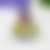 Bague trois saphirs or jaune 18k argent 950, taille 54, style ancien, vintage, ethnique, saphir multicolore