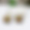 Boucles d'oreilles opale jaune argent massif, boucles d'oreilles longues argent noire, bijoux de créateur