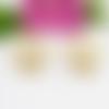 Créoles plates argent massif 950 plaqué or 24k. petites créoles boules vermeil. boucles d'oreilles cercle. personnalisées