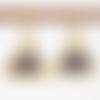 Boucles d'oreilles tanzanite argent plaqué or 24k, boucles d'oreilles style antique, bijoux artisanaux
