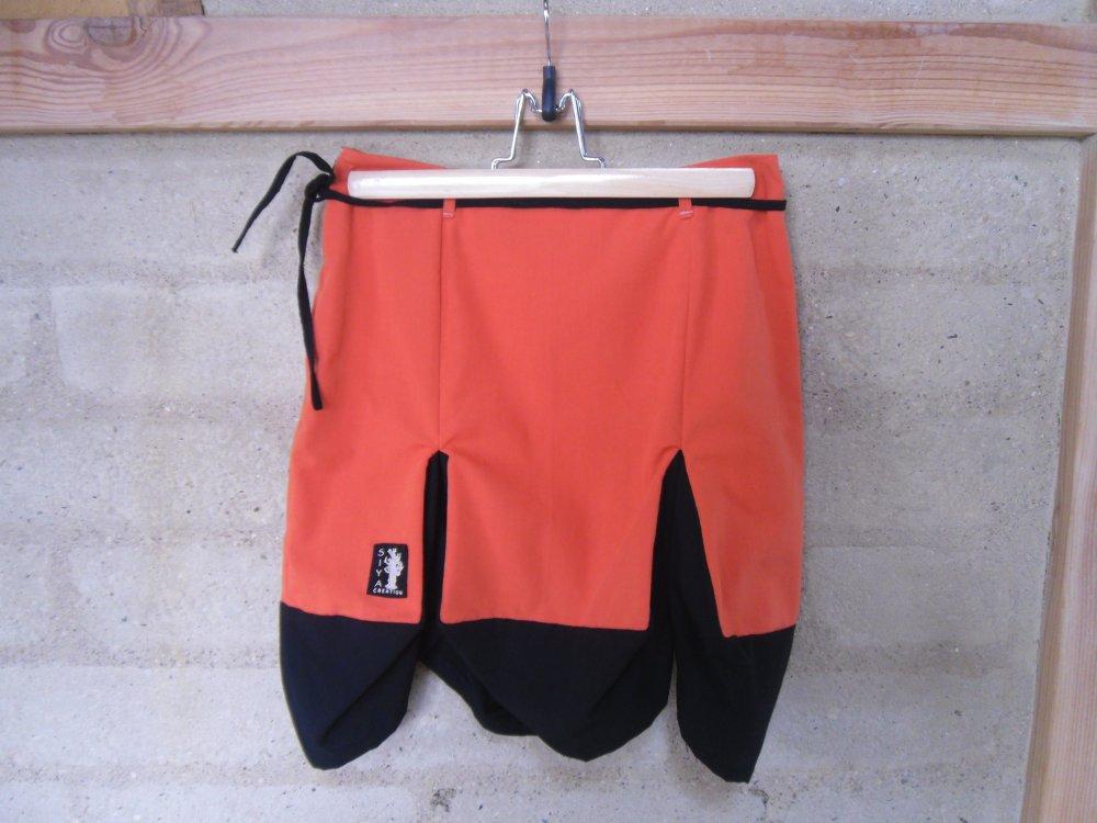 "JUPE BIO ""Orange-Noire"" T34"