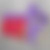 "Ceinture-sacoche bio  ""rouge/violet"""