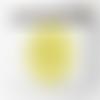 Pochette motif mandala jaune