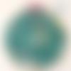 Cadre tambour / cercle à broder déco enfant licornes magiques (tissu phosphorescent)