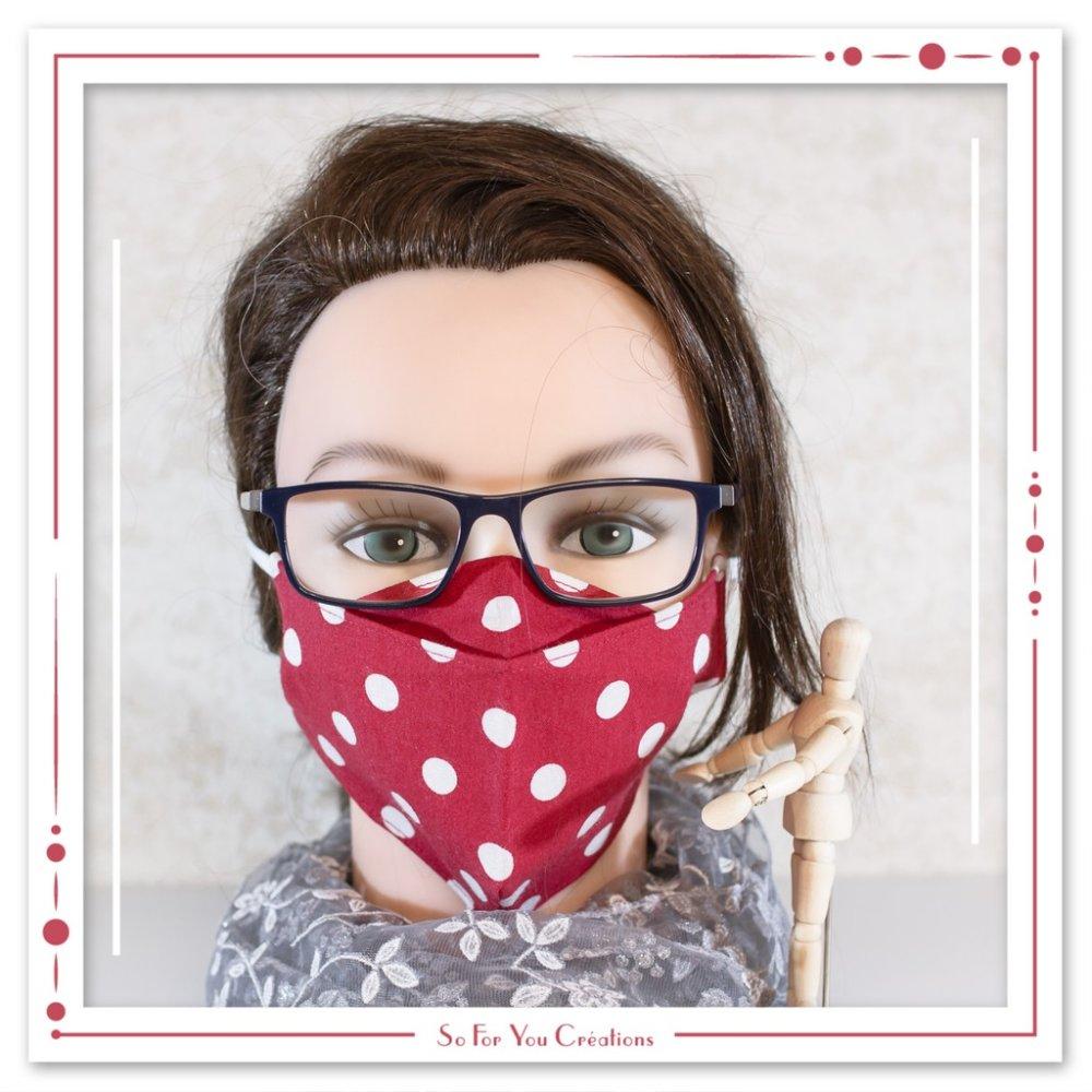 Masque barrière en tissu anti buée